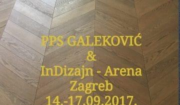 Galeković izlaže na sajmu InDizajn, Arena Zagreb, 14.-17.09.2017.
